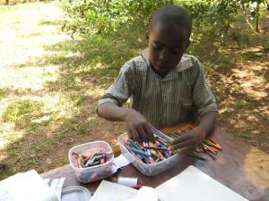 20 - UK schools donate their used pencils and crayons to St James