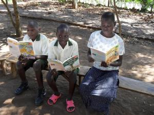 43a - We bought books of Hop, Skip, Jump, the Ugandan reading scheme