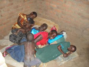 As many share the same bed, the mosquito nets have protected many more families
