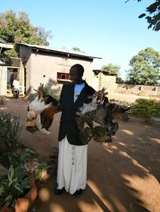 3 Grace with some of the Dowry! Eric had been keeping the chickens in George's Den