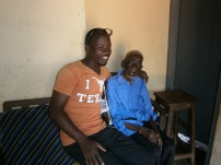 That is definately a smile for his grandson Innocent