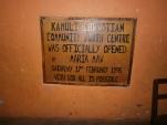 Maria's plaque