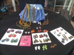 Earrings, and last years necklaces. Earrings all £3.50. Necklaces £1.50 - £3.00
