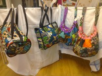 Esthers bags all beautifuly lined. Sausage bag & shopper £9, beaded shoulder bag £7