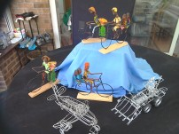 Wire loaded Uganda bikes £7. Wire plane or digger £8
