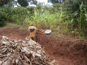 The brick maker. The soil here is just right for making bricks.