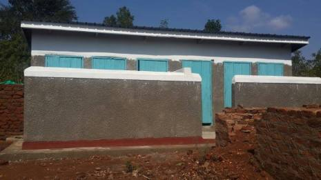 Latrine block with hand washing facilities