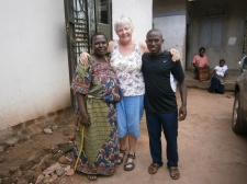 With Mum Monica and Mike in the village last year