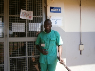 Bosco training in the Maternity Ward in Jinja hospital