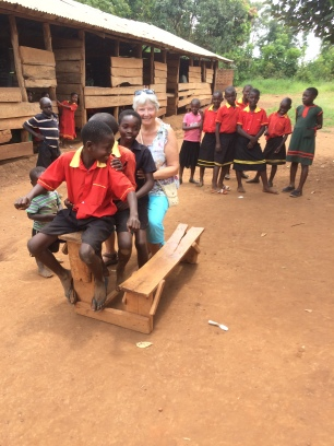 The last group decided they were all on a boda motorbike when the driver had a seizure and invited me to join them! I almost went flat on my face when the whole desk tipped over!