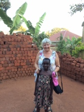 Me, 'Aunt Gerry', with Gerry Mukisa a few weeks ago
