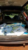 Nets in Godfrey's car ready for delivery day