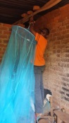 Amasa hung the nets up
