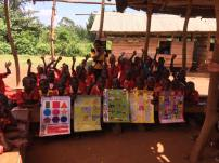 Friends Helen and Joshua donated these teaching charts. The school has NO teaching aids at all!