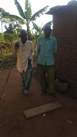 And with Mr Asange, his brother who will help rebuild the walls and will now care for him