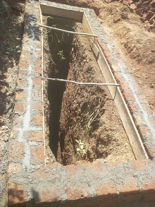Pit for the new latrines for the girls