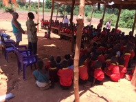 Getting the whole school in the shade or under cover when it rained was impossible