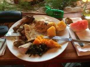22 My big plate of traditional Ugandan food