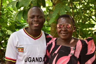 Mum Monica loved wearing my sunglasses! Here she is with son Bosco who has just finished his nursing training and is looking for a job.