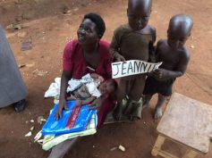 Thank you Jeannie for donating mosquito nets to this family
