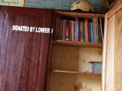 Still many empty shelves in the book cupboard