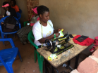 If you learn to sew there are so many opportunities in Uganda because the majority of people can only afford second hand clothes so often they need altering.