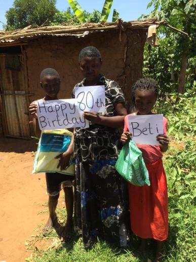 Mosquito nets make great alternative gifts. Happy 80th Beti!