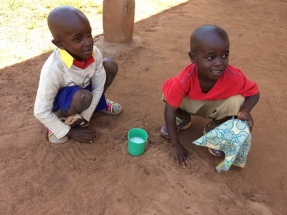 Break time and these children played in the thick dust like it was sand!