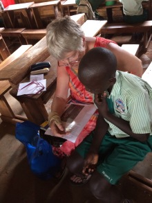 I was helping Emma to read a letter from his pen pal Josh whose mum Helen is helping us with his school fees. His English is getting better helped by big brother Kasenke Paul during the long school holidays. Emma managed to write a letter back and I'm sure Josh will be thrilled to receive it!