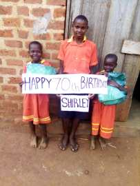 I was told by Leslie, the friend who donated these mosquito nets told me Shirley really enjoyed her birthday gift!