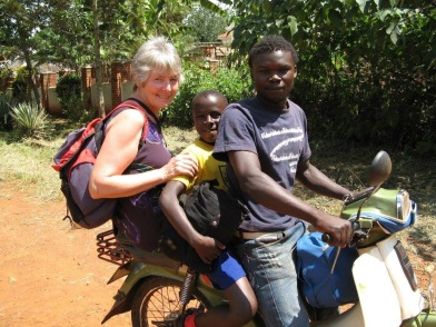 Taking Paul back to his first school in 2008 when we first started sponsoring him