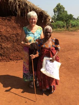 Then I was introduced to this lady who had lost her sight and she was 100! Very usual for Uganda !