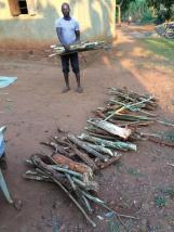 We need lots of firewood as the charcoal stove won't be used for such a big amount of food.
